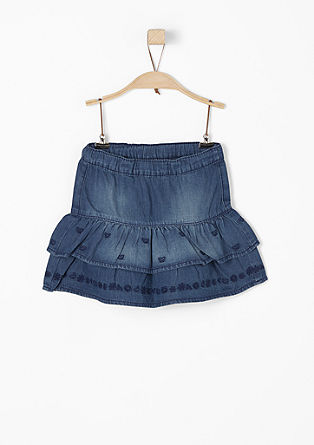 Tiered denim skirt from s.Oliver