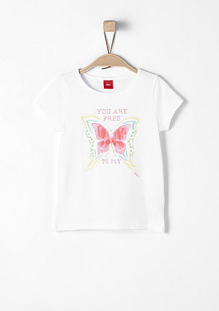 T-shirt with butterfly print from s.Oliver