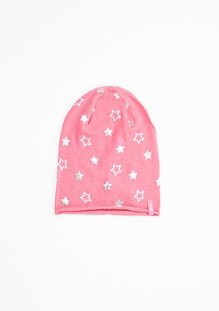Beanie with a star print from s.Oliver
