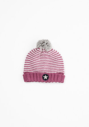Two-tone pompom hat from s.Oliver