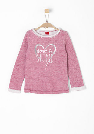 Sweatshirt with metallic print from s.Oliver