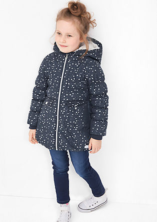 Winter coat with metallic stars from s.Oliver