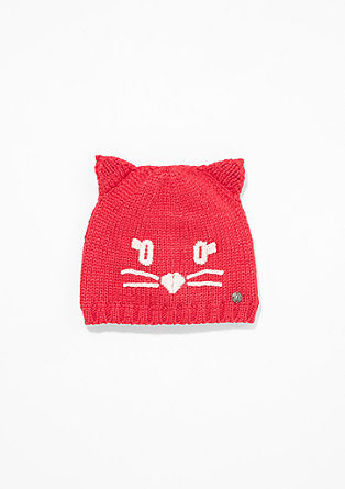 Lined cat hat from s.Oliver