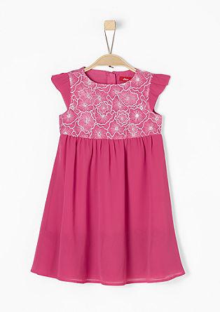 Kleid mit besticktem Organza
