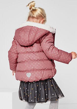 Sternchen-Jacke mit Teddyfell