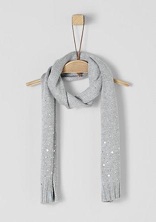 Gebreide sjaal met sierstenen