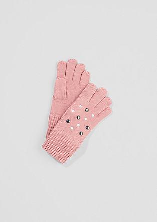 Strickhandschuhe mit Nieten