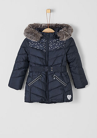 Winter coat with a faux fur hood from s.Oliver