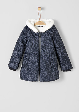 Winter coat with plush lining from s.Oliver