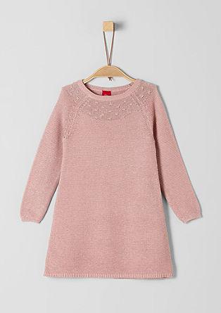 Glitzerndes Strukturstrick-Kleid