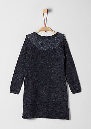 Glittering textured knit dress from s.Oliver