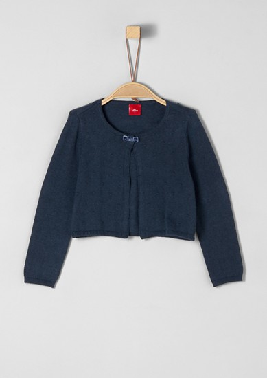 Short cardigan with velvet bow from s.Oliver
