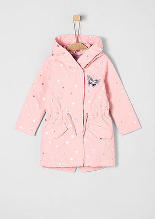 Mantel mit Glanz-Details
