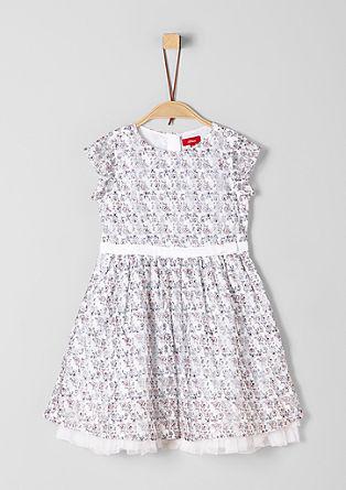 Čipkasta obleka s cvetličnim vzorcem
