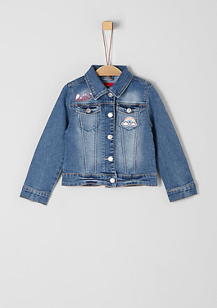 Denim jacket with appliqués from s.Oliver