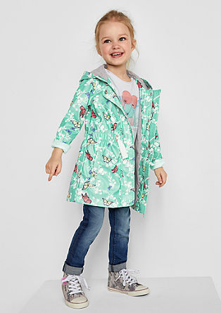 Rain coat with a spring print from s.Oliver