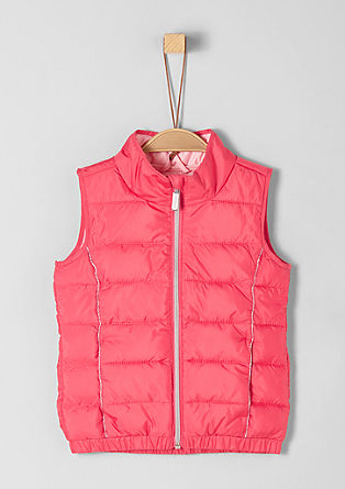 Quilted body warmer with decorative piping from s.Oliver