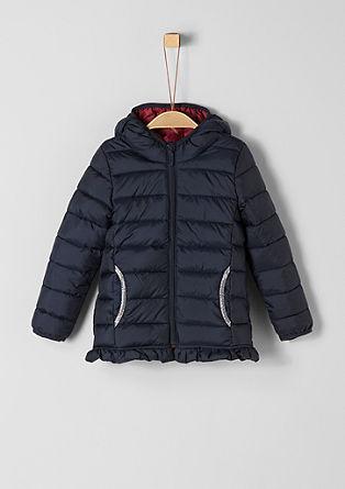 Wattierte Jacke mit Rüschen-Details