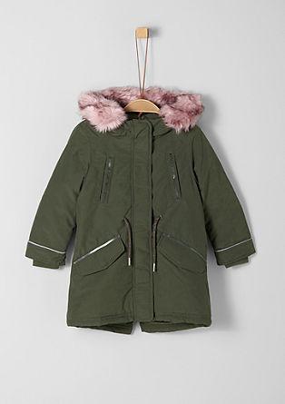 Manteau chaud rehaussé de fourrure synthétique de s.Oliver