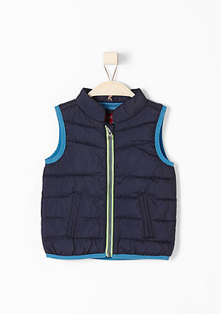 Body warmer with neon accents from s.Oliver