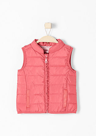 Quilted body warmer with frills from s.Oliver