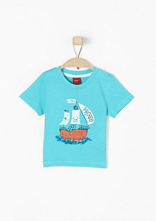 T-shirt with a pirate ship motif from s.Oliver