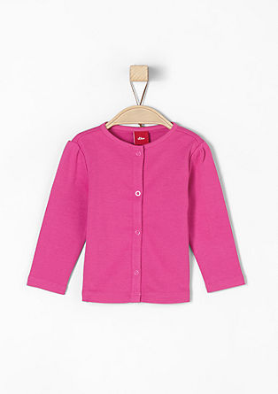 Tone-in-tone sweatshirt jacket from s.Oliver