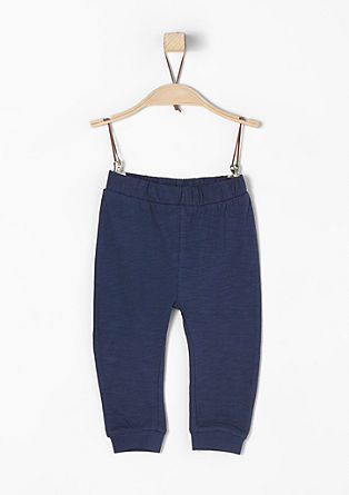 Jersey trousers with leg cuffs from s.Oliver