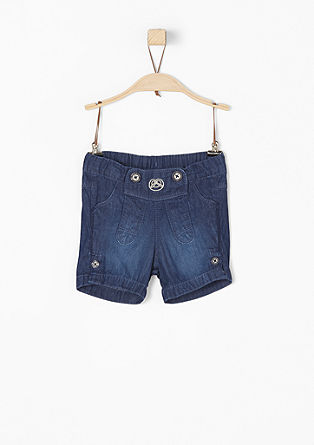Denim shorts with embroidery from s.Oliver