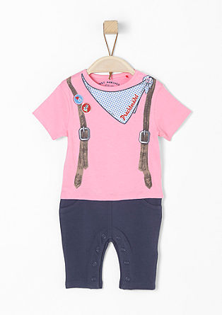 Jersey romper suit in an Oktoberfest style from s.Oliver