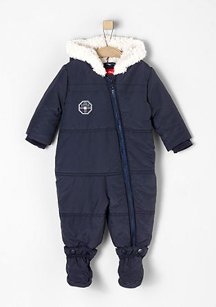 Warm jumpsuit with plush hood from s.Oliver
