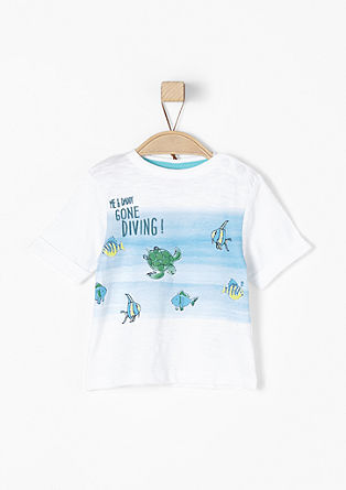 T-shirt with an underwater print from s.Oliver