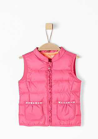 Body warmer with ruffles and hearts from s.Oliver