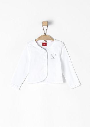 Shirtjacke mit Glitzersteinen
