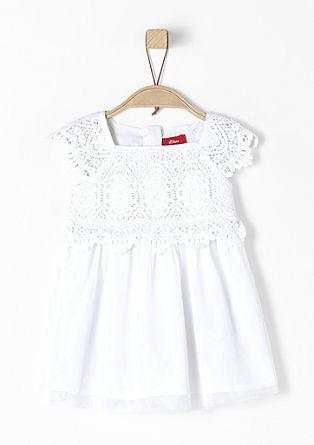 Fijne jurk van tule met kant