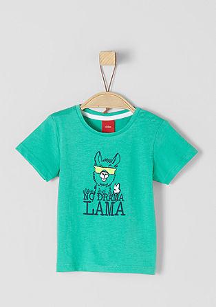 T-Shirt mit Lama-Motiv