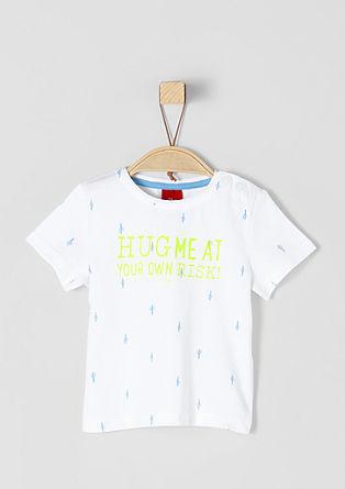 T-Shirt mit Kaktus-Muster