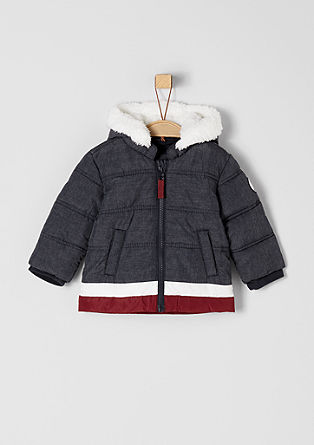 Sporty winter jacket with plush from s.Oliver