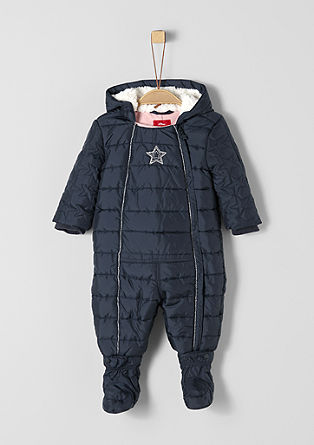 Snow suit with a plush hood from s.Oliver