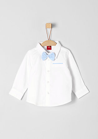 Shirt with a button-off bow tie from s.Oliver