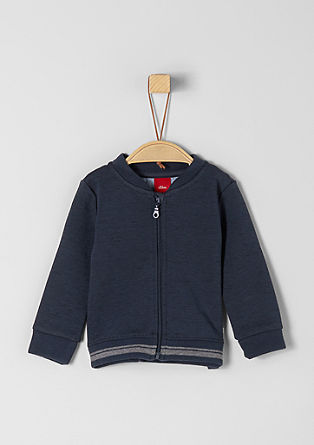 Sweatshirt jacket in a college style from s.Oliver
