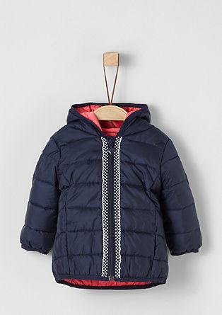 Prošívaná bunda s ozdobnou bordurou