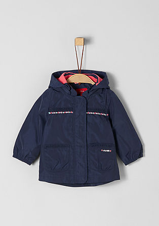 Lightweight coat with a pompom border from s.Oliver
