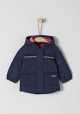 Leichter Mantel mit Pompon-Borte