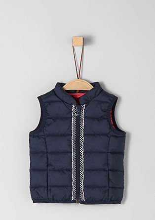 Quilted gilet with decorative tape appliqué from s.Oliver
