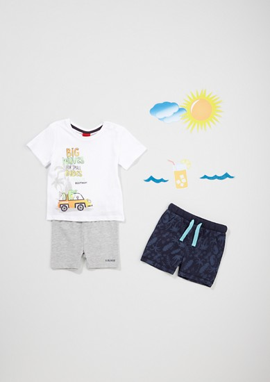 T-shirt en jersey à imprimé plage de s.Oliver