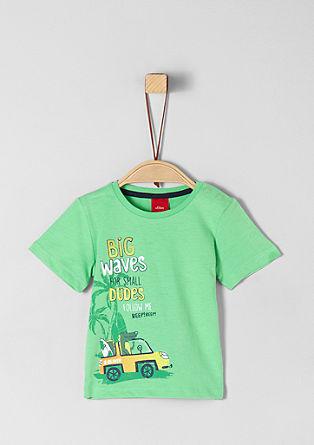 Jersey shirt met strandprint
