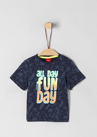 Jersey shirt met een neonprint
