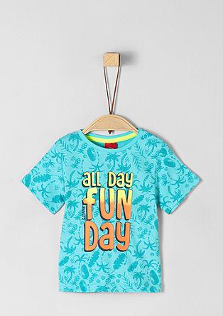 Majica iz džersija z neonskim potiskom