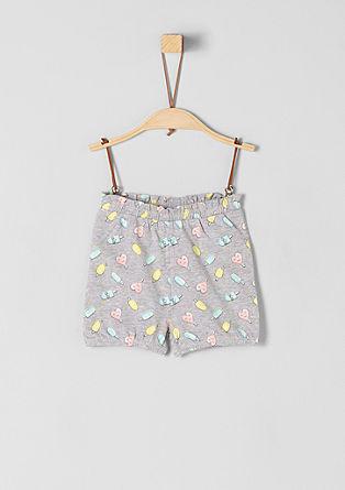 Žerzejové kalhoty s natištěným vzorem